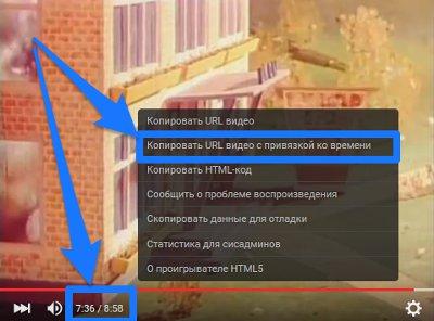 Как сделать ссылку на ролик YouTube со временем