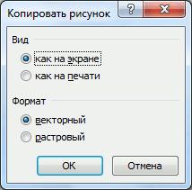 скриншот ячеек в Excel